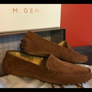 """M. Gemi """"Felize """" Cocoa Suede Driving Moccasin"""